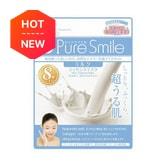 日本PURE SMILE 精华面膜牛奶保湿美白 8片入