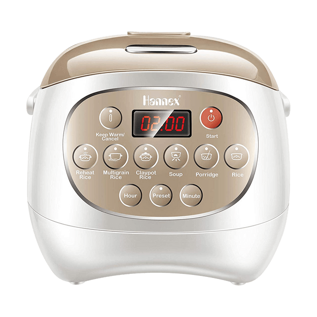 Product Detail - HANNEX Multi Function Ceramic Pot Digital 3L 6 cup Rice Cooker RCTJ310W - image 0