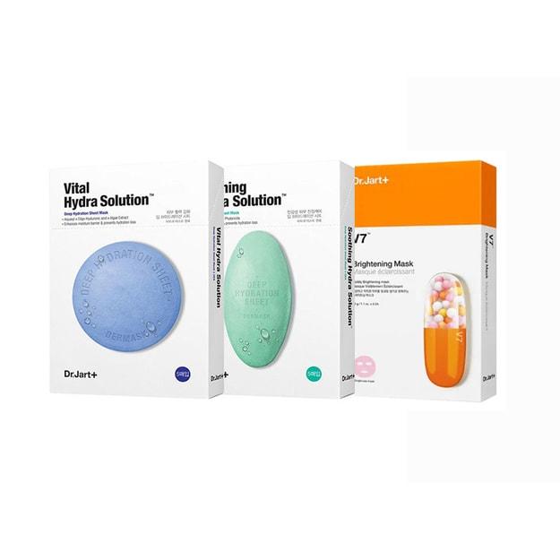 商品详情 - 韩国 DR.JART+ 蒂佳婷 蓝色+绿色+橙色v7药丸组合 超值套装 深层清洁+补水+美白提亮 3盒入 - image  0