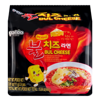 PALDO Flaming Hot Savoury Cheese Noodle 111g*4