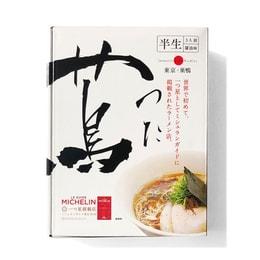 【日本直邮】DHL直邮 3-5天到 日本蔦TSUTA 连续4年米其林1星拉面名店 生面酱油味 3人份 已改新包装
