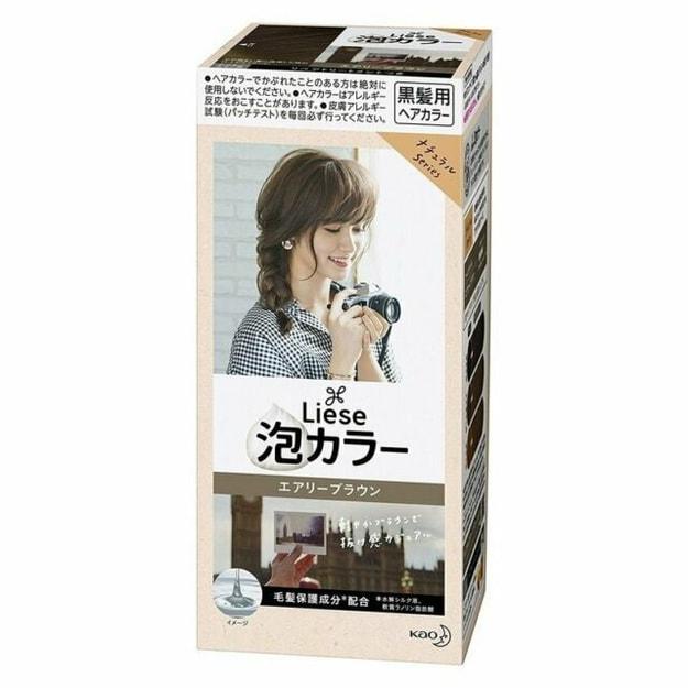 Product Detail - KAO LIESE PRETTIA Bubble Hair Dye #Airy Brown - image 0