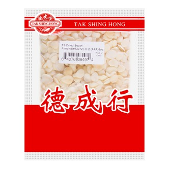 TSH Dried South Almond (AAA) 170g