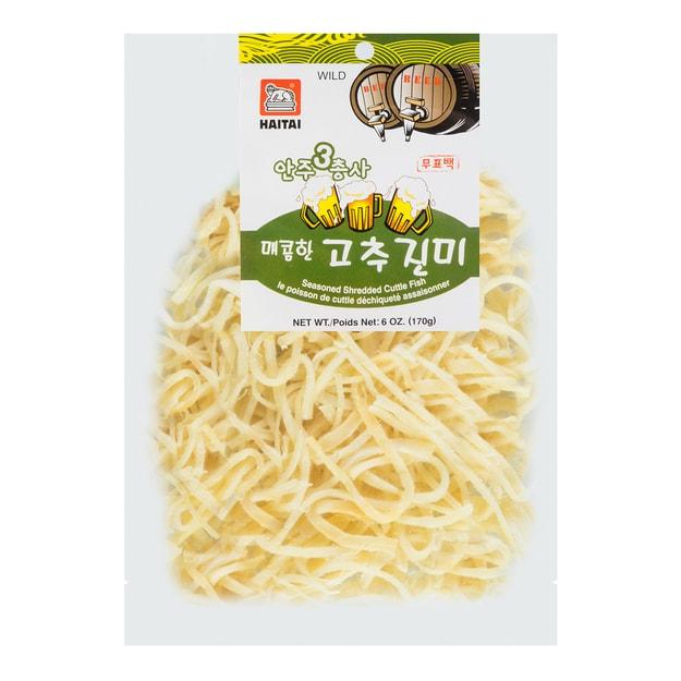 商品详情 - 韩国HAITAI海太 手撕鱿鱼条 香辣味 170g 包装随机发 - image  0