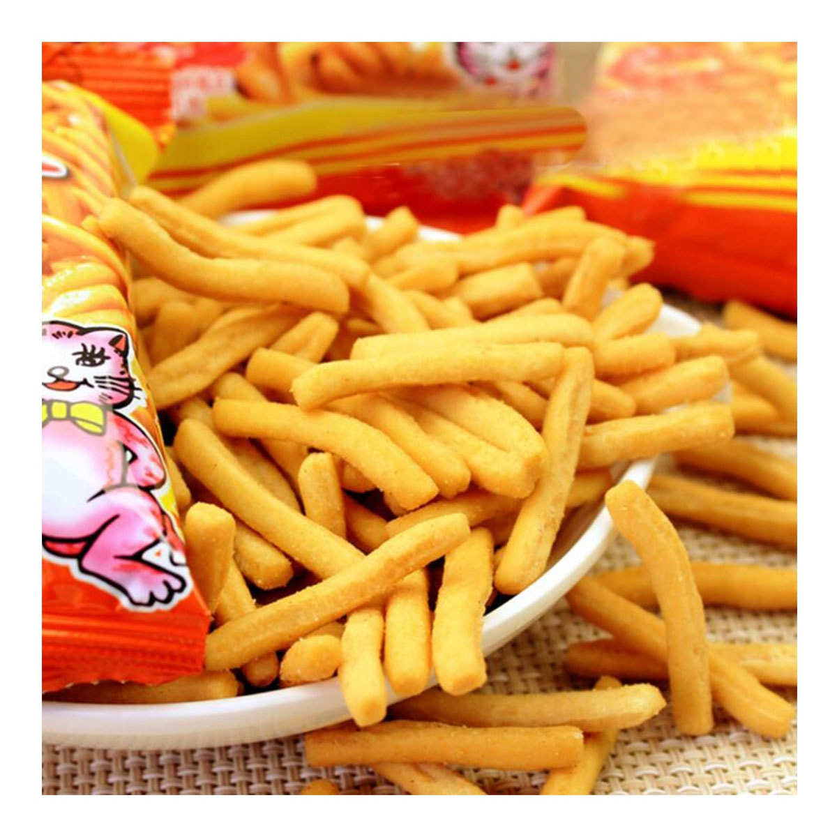 Yamibuy.com:Customer reviews:[China Direct Mail] Mimi Shrimp Sticks Single Pack Love Still Delicious Puffed Snacks Internet Red Casual Nostalgia Sn