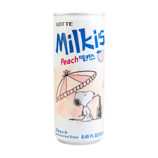 Product Detail - 【Snoopy Edition】LOTTE Milkis Peach Flavor 250ml - image 0