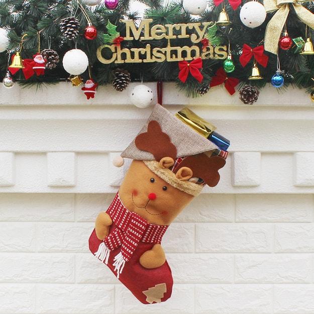 商品详情 - 中国直邮 TIMESWOOD圣诞袜子圣诞装饰品节日用品礼品袜 麋鹿 1件 - image  0