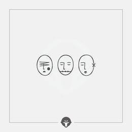 @BECOME Tattoo Stickers No talk no look no listen Three Piece