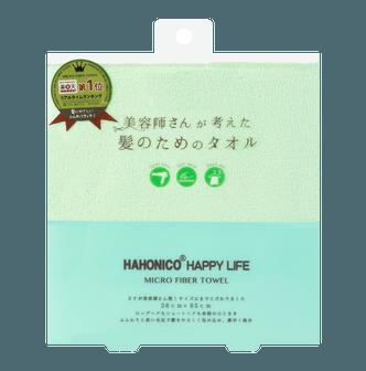 日本HAHONICO 超强吸水力柔软快速干发毛巾 绿色 1件入 乐天销售第一
