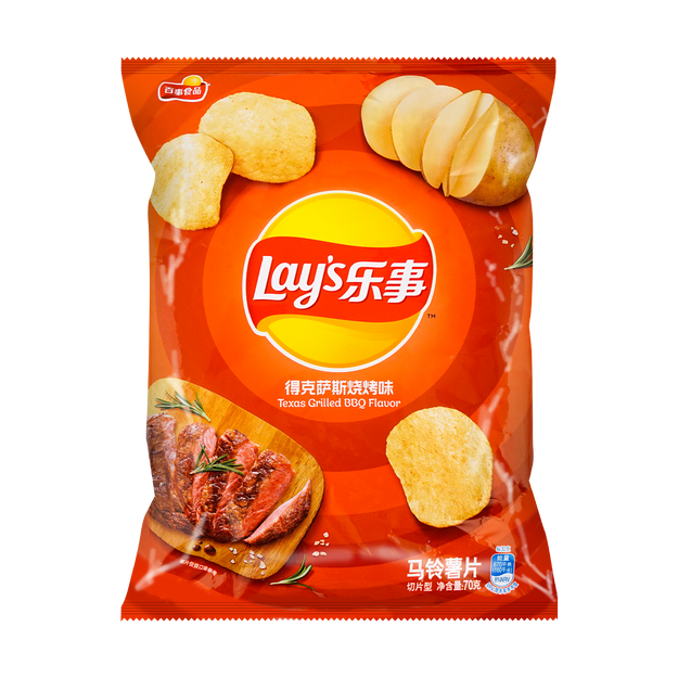 Product Detail - LAY\'S Potato Chips BBQ Flavor 70g - image 0
