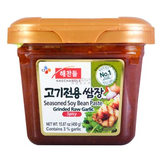 CJ Garlic Seasoned Soy Bean Paste Spicy 450g