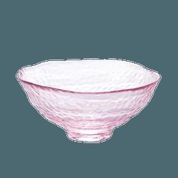 ISHIZUKA GLASS 石塚硝子||津轻 日系玻璃耐热樱花抹茶玻璃碗 F79496||1个