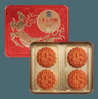 香港美心 双黄莲蓉月饼 4枚入 740g