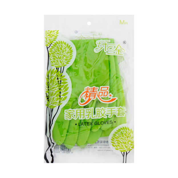 Product Detail - Hongfu Latex Household House Cleaning Gloves M size - image 0