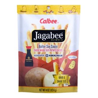 日本CALBEE卡乐B JAGABEE宅卡B 薯条先生 酱油奶油味 113.4g