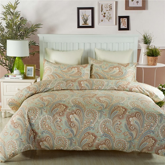 Product Detail - J.F.AMIEE 100% Egyptian Cotton 800 Thread Count Reversible 4 piece Duve siji  Twin - image 0