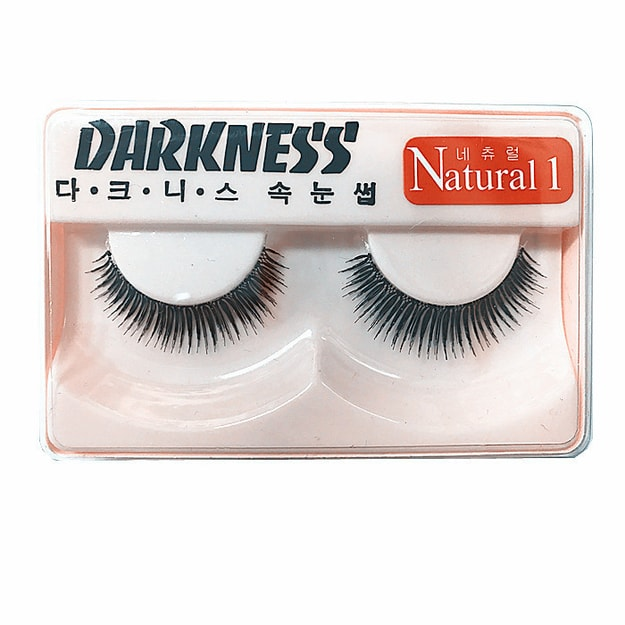 Product Detail - DARKNESS False Eyelashes #Natural1 1Pair In 1Box - image 0