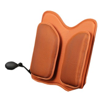 RAMBLE Car waist pad protection spine airbag memory cotton back pad four seasons universal 3D mesh cloth Charm brown 1PC