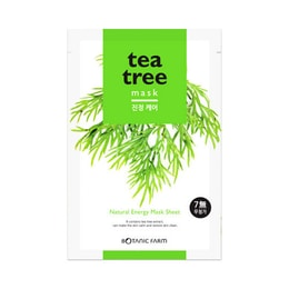 BOTANIC FARM Natural Energy Mask Sheet Tea Tree Mask 1sheet