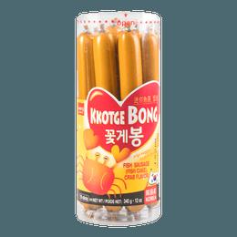 韩国WANG 美味鱼肠 鲜蟹味 10根入 340g