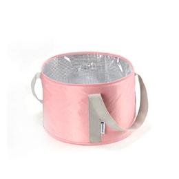 TIMESWOOD Portable collapsible outdoor travel soaking feet bag laundry wash basin wash foot bucket bag Pink 1PC