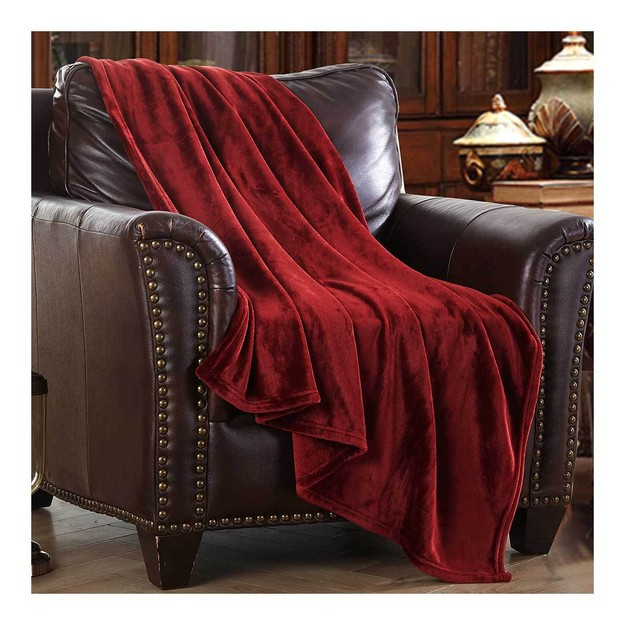 Product Detail - MERRYLIFE Decorative Throw Blanket (BURGUNDY 90\'\' 102\'\') Ultra-Plush Comfort | Soft Colorful Oversized - image 0