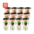 【Pack of 12】SUNITY Herbal Jelly in Cup Original Flavor  X 4 Passion Fruit Flavor X 4 Honey Pomelo Flavor X 4