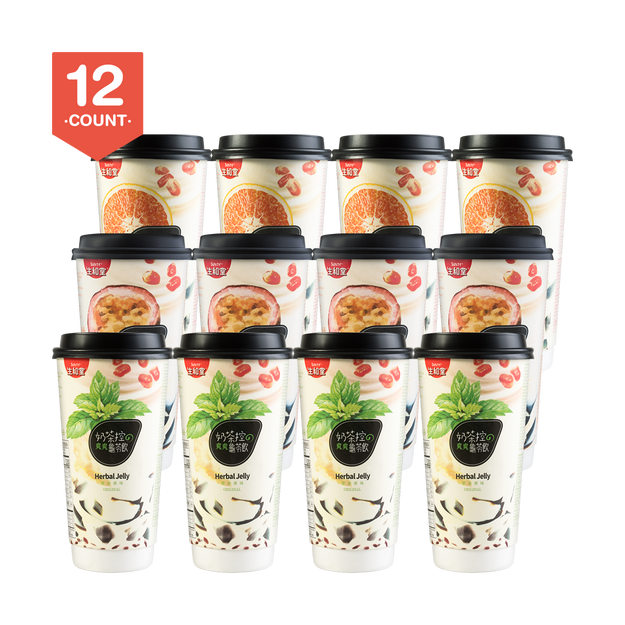 Product Detail - 【Pack of 12】SUNITY Herbal Jelly in Cup Original Flavor  X 4 Passion Fruit Flavor X 4 Honey Pomelo Flavor X 4 - image 0