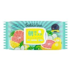 日本BCL SABORINO 60秒懒人 早安面膜 西柚香型 32片入
