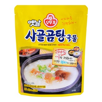 韩国OTTOGI不倒翁 即食100%浓醇牛骨汤 方便烹饪袋 350ml