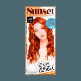 韩国MISE EN SCENE爱茉莉 HELLO BUBBLE泡沫染发剂 80落日橘色 单组入