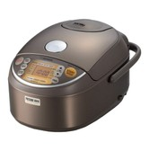 ZOJIRUSHI Induction Heating Pressure Rice Cooker and Warmer 10 Cup 1.8L Stainless Brown NP-NVC18XJ