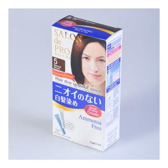 日本DARIYA SALON DE PRO 白发专用无味染发剂 #5自然棕 80g