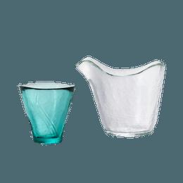 ISHIZUKA GLASS 石塚硝子||津轻Vidro 单人用耐热单嘴酒具套装||1套