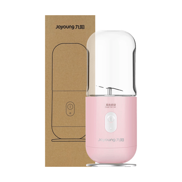 Product Detail - JOYOUNG USB Wireless Mini Charging Portable Juicer JYL-C902D Pink 350ml - image 0