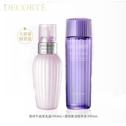 COSME DECORTE PRIME LATTE 300ml And Vita De Reve Herbal Vitalizing Lotion 5oz 300ml