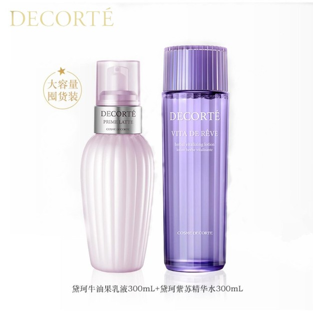 Product Detail - COSME DECORTE PRIME LATTE 300ml And Vita De Reve Herbal Vitalizing Lotion 5oz 300ml - image 0