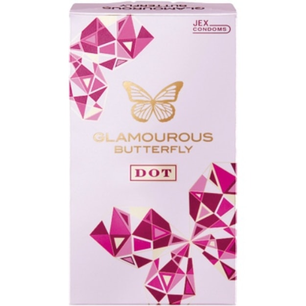 Product Detail - JEX Glamourous Butterfly Dot Condom 8pcs - image  0