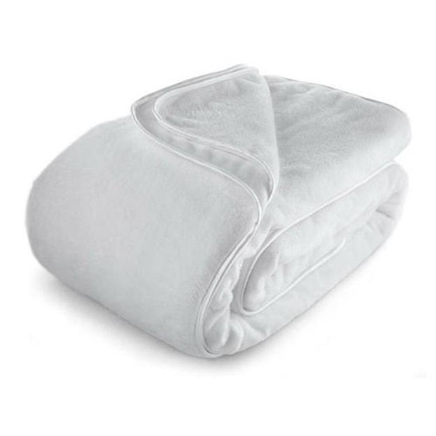 商品详情 - PREMIUM DOWN 真丝滚边舒适护脚毯 白色 - image  0