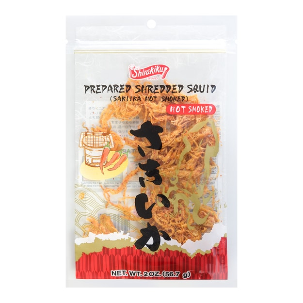 Product Detail - 【Clearance】SHIRAKIKU Shredded Smoked Squid Hot Smoked 57g - image 0