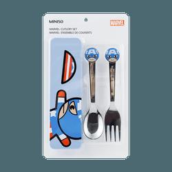 名创优品Miniso 漫威卡通系列餐具两件套 #美国队长