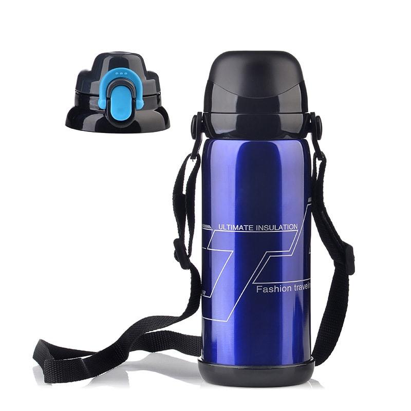 中国直邮 不锈钢真空保温杯水杯户外运动水瓶创意礼品大容量保温壶800ml 蓝色一件 怎么样 - 亚米网