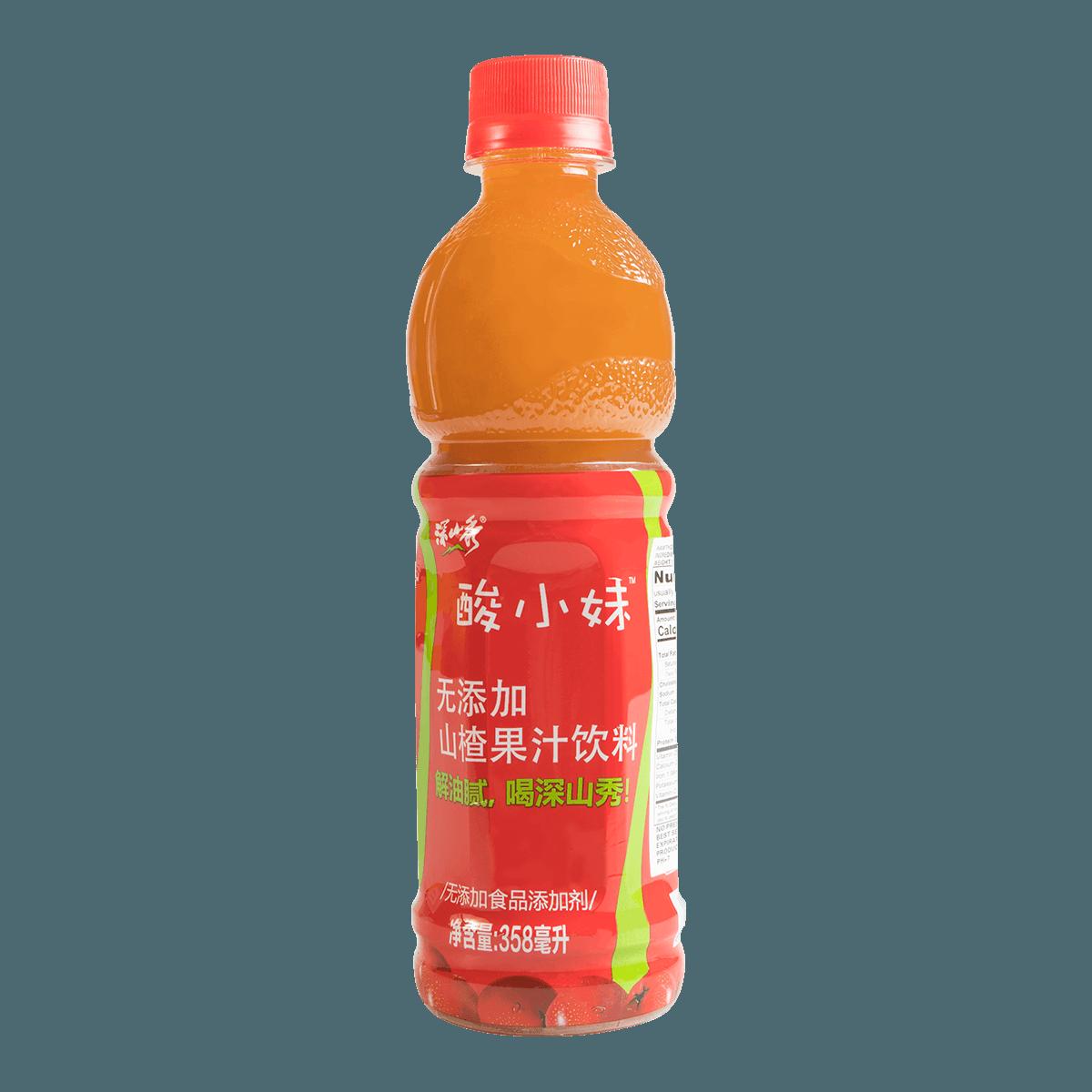 深山秀 酸小妹 无添加山楂果汁饮料 358ml 怎么样 - 亚米网