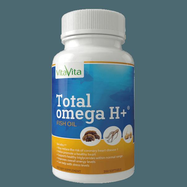 Yamibuy.com:Customer reviews:VITA VITA Total Omega H+ EPA/DHA with American Ginseng Reishi Spore & Maca (200 Softgels)