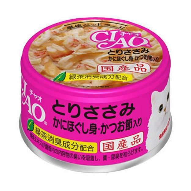 Product Detail - INABA Chicken and Snow Crab and Bonito Flavour Cans - 85g - image 0