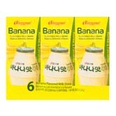 韩国BINGGRAE宾格瑞 香蕉味牛奶饮料 6盒入 1.2l