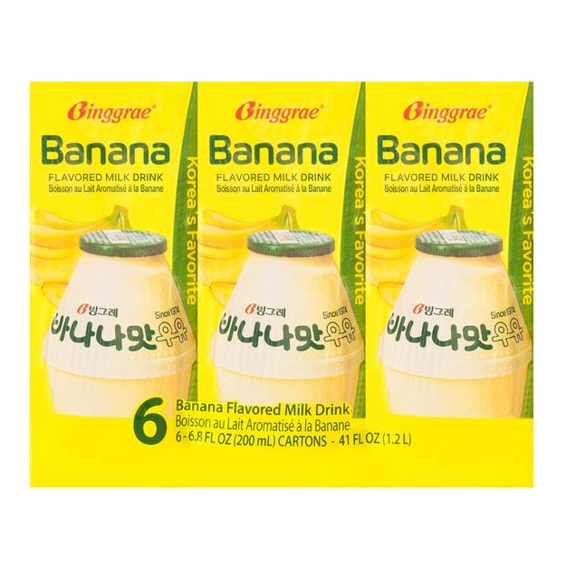 商品详情 - 韩国BINGGRAE宾格瑞 香蕉味牛奶饮料 6盒入 1.2l - image  0