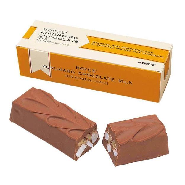 商品详情 - DHL直发【日本直邮】北海道名产 ROYCE棉花糖核桃牛奶巧克力 1条装 - image  0