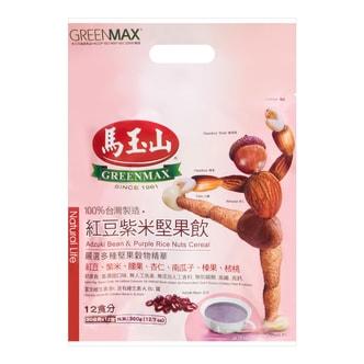 台湾马玉山 红豆紫米坚果饮 12包入 360g