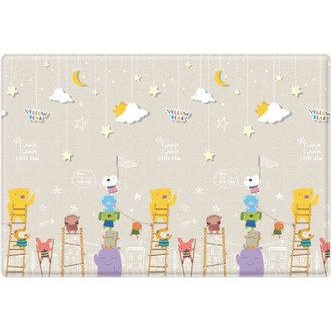 韩国PARKLON婴儿爬行毯 小熊摘星星款  L190 x 130 x 1.2 cm (74.8 x 51.2 x 0.5 in)